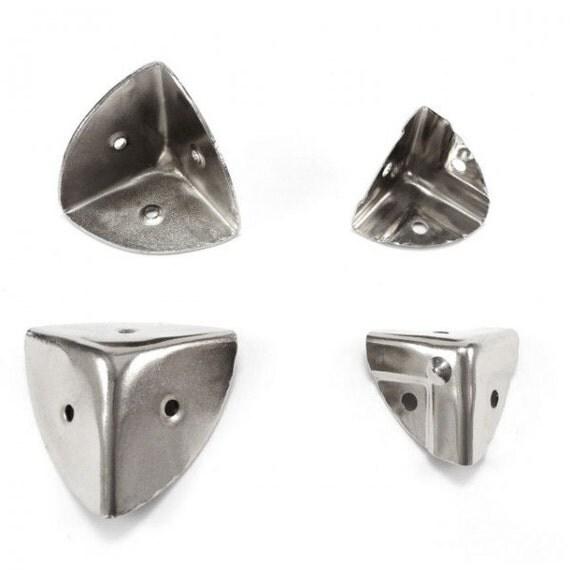 Steel Corner Protection : Mm eared metal corner protectors guard desk edge