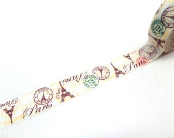 Vintage Stamps Washi Tape - Paris