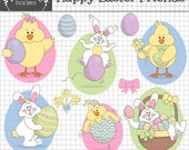 50% OFF SALE Easter Bunny Clipart, Easter Chick Clipart, Rabbit Clipart, Easter Clip Art,  Easter Egg Clip Art, Instant Download, Commercial