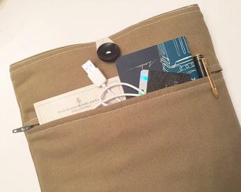 MacBook Air 11 Case Padded 11 inch MacBook Sleeve 11 inch MacBook Air BONUS Front Pocket (Solid Ecru Beige)