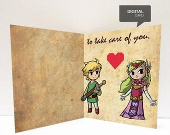 Zelda Valentine's Day card printable (digital card)