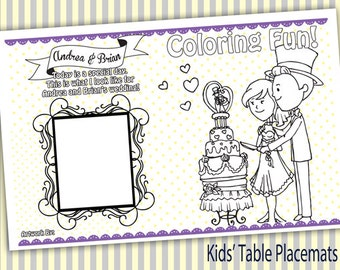 15 kids table placemats personalized wedding placemats custom placemats childrens table custom