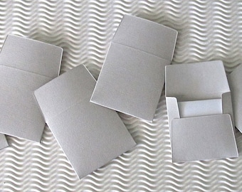 36+ teeny tiny envelope note card sets handmade mystique grey gray mini miniature square party favors weddings stationery guest book