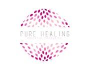 Holistic Logo design, customizable Pre-made Modern Metaphysical logo design - Pink Flower logo