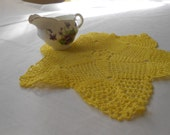 Vintage Hand-Dyed Star Crocheted Doily