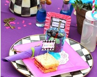 PARTEA Tea party EAT ME tags - You print - instant download