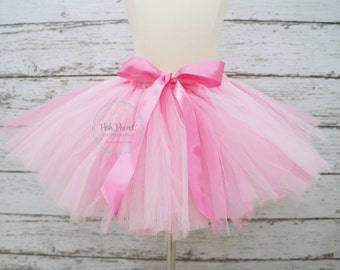 pink tutu- baby pink tutu- tutu skirts- pink tutu skirts- toddler tutus- birthday girls tutus- baby tutu- girls tutu- tutu with bow- girls