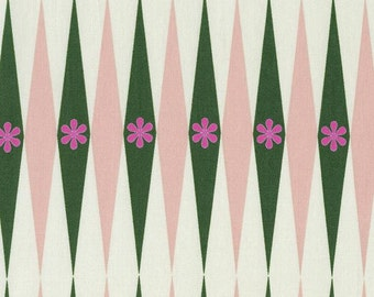 Playful Backgammonish in Green and Natural, Melody Miller, Cotton+Steel, RJR Fabrics, 100% Cotton Fabric, 0015-2