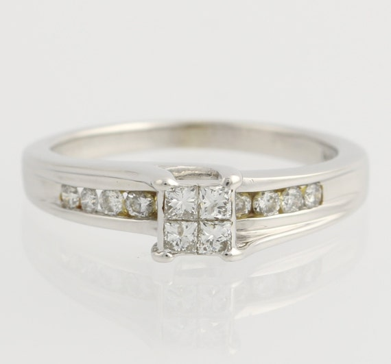 composite diamond engagement ring 14k white by wilsonbrothers With composite wedding rings