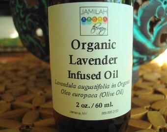 Body Massage Oil - Lavender (Lavandula augustifolia) Infused Organic Olive Oil - Balancing Massage Oil, Body & Skin Care, Penetrating Oil