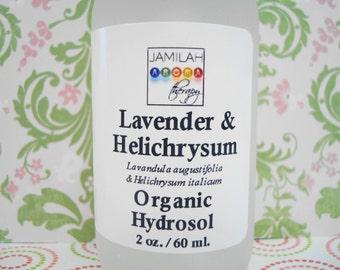Hydrosol - Organic Lavender & Helichrysum Co-Distill Hydrosol - Truly Skin Soothing, 100% Organic, Cleansing Skin Care,  Best of Hydrosols