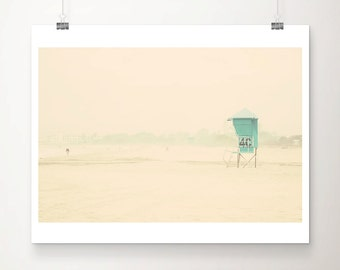 beach photograph California photograph mint lifeguard tower photograph Coronado Island photograph San Diego photograph beach print