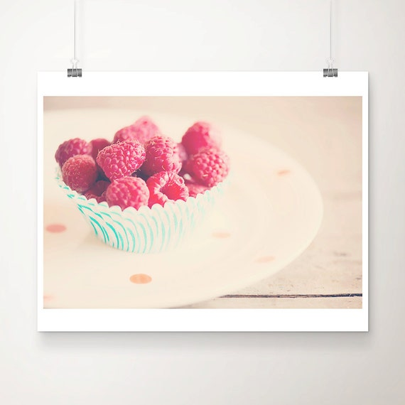 raspberry photograph food photography kitchen wall art raspberry print fuchsia pink decor fruit photograph fruit print food print