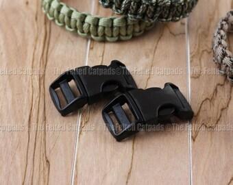 "Buckles for Paracord Bracelets 2 ITW Nexus Contoured 3/4"" Black SR - Flat Webbing"