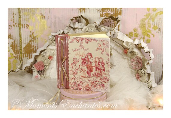 Guest book Note book secret book or guest book toile de Jouy