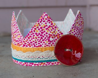 Fabric Crown / Birthday Crown - Princess Nell