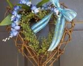 Grapevine Heart Wreath, Heart Twig Wreath, Heart Door Wreath, Wall Hanging, Rustic Heart Wreath, Twig Heart, Country Wreath, Home Decor