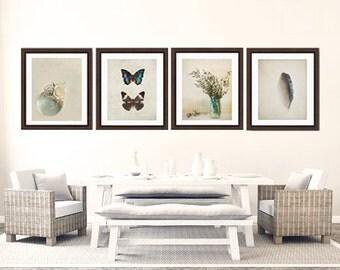 Butterfly feather photo Set, nature photography, turquoise photo set, blue butterfly, feather print set, feather photo, home decor