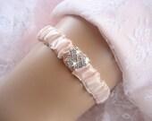 Romantic Blush  Wedding Garter,  Hand-dyed Garter Wedding Garter Bachelorette Bridal Garter other colors too