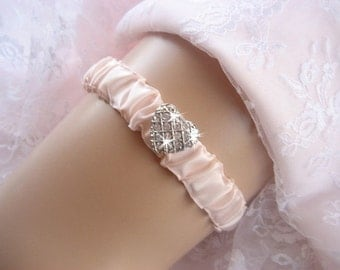 Romantic Blush  Wedding Garter,  Hand-dyed Garter Wedding Garter Bachelorette Bridal Garter other colors too