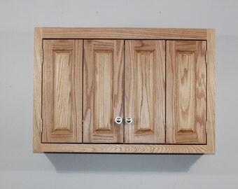 """32"""" TV wall cabinet in Oak"""