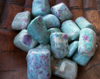 RUBY FUSCHITE Tumbled Stone A+ XL Sea Salt Reiki Heart Love Passion Peace Transform Psychic Spirit Angel Blessed Magic Crystal Heal Meditate