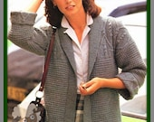 PDF Knitting Pattern For  Edge To Edge Jacket -  Instant Download