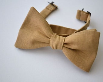 Freestyle Bowtie in Khaki Linen