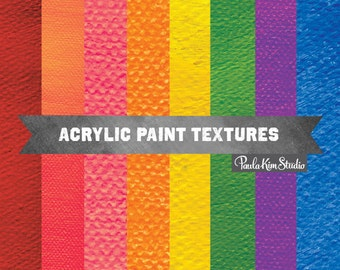 Paint Textures - Background Digital Paper - Acrylic Paint Backgrounds for Commercial Use
