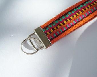 Earthy Stripe Key Fob - Gift Under 10