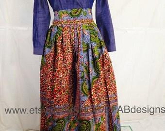Ankara Long skirt /Handmade/The African Shop/Fashion/African Skirt/African style/ African clothing/Ankara Maxi skirt