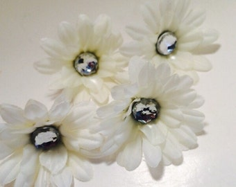 Ivory 2 inch Gerber Daisy(set of 4)was 1.10
