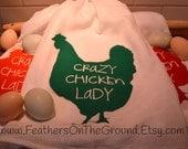 Crazy Chicken Lady Dish Towel
