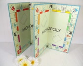 Vintage Monopoly Game Boards Set of 2 - Retro Pieces for Repurposing Upscaling Upcycling - Collection of Colorful Sturdy Flats for Projects