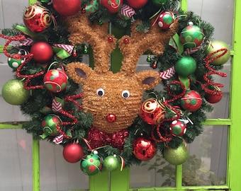 Rudolph Christmas Wreath