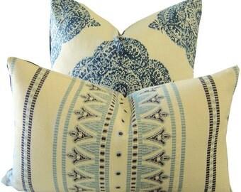 Indigo Pillow - Navy Pillow - Navy Cushion - Woven Pillow - Decorative Pillow Cover - Indigo Lumbar Pillow - PILLOW COVER ONLY