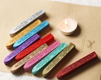 Set 2 Sealing wax sticks 10 colors