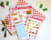 DELUXE Childs Pretend Play Restaurant  Menu Set