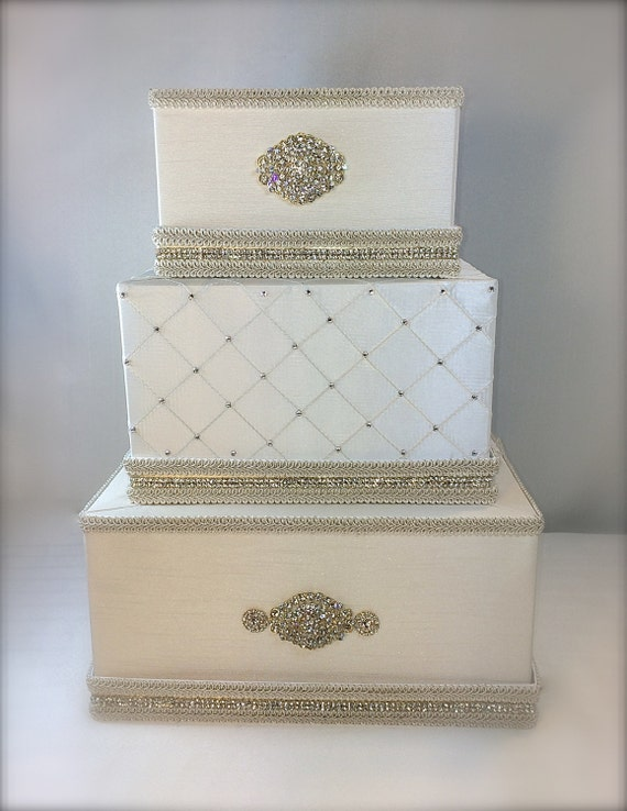 Wedding Card Box Ivory And Gold Classic Wedding By WrapsodyandInk