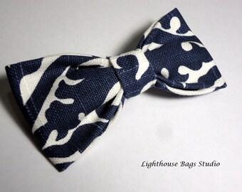 Bow Tie - Blue & White