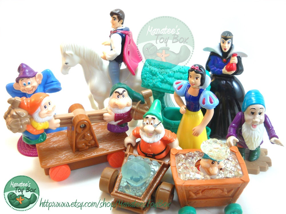 1990 S Toys : Snow white toys s complete set of by manateestoybox