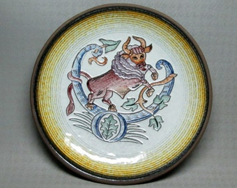 Kellinghusen horoscope / zodiac plate TAURUS trench germany