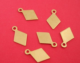 Brass Stamping  Pendant Tag.