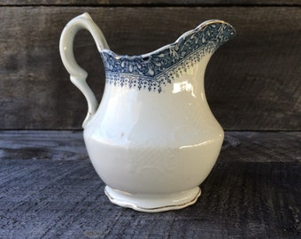 China Pitcher - Blue Accent - Mercer China - Ramore