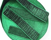"2"" Green Glitter Pleated Cloth Stretch Elastic Band"