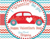 NEW - Car Valentine Favor Tags