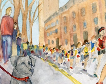 My Biggest Fan- Boston Marathon 2014