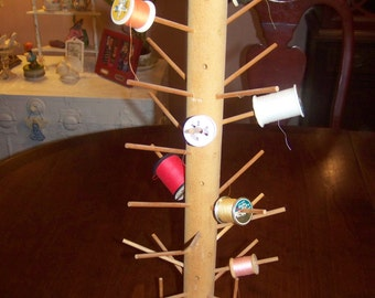 Vintage Thread spool holder Tree, revolving and adjustible, 36 pegs..Reduced..Was 19.99