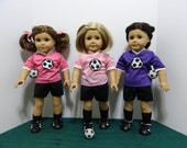 Soccer or Football Outfit For American Girl and Similar Dolls