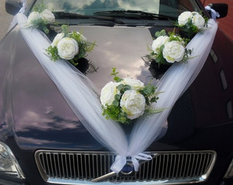 Wedding Car Decoration Boquet of Peonies